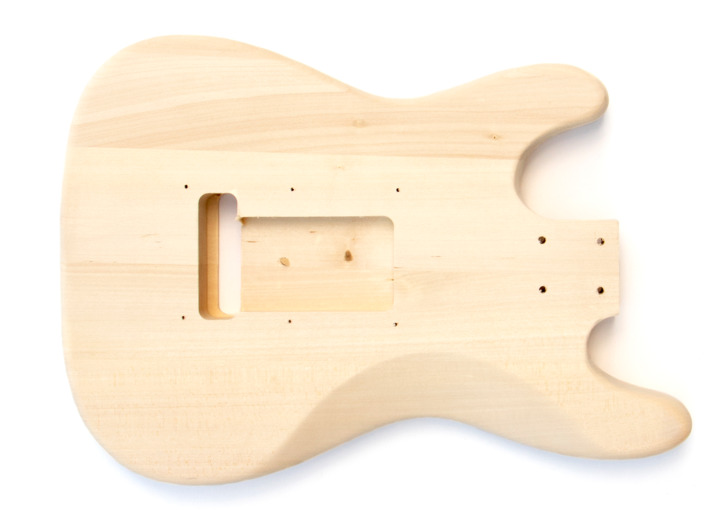 Rear View of The Mini ST Build Your Own Electric Guitar Kit