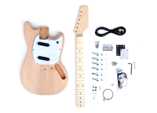Everything that Comes With The Offset 2 Single Coil Build Your Own Guitar Kit