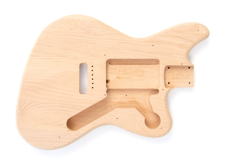 Front View of The Offset 3 Single Coil Build Your Own Guitar Kit