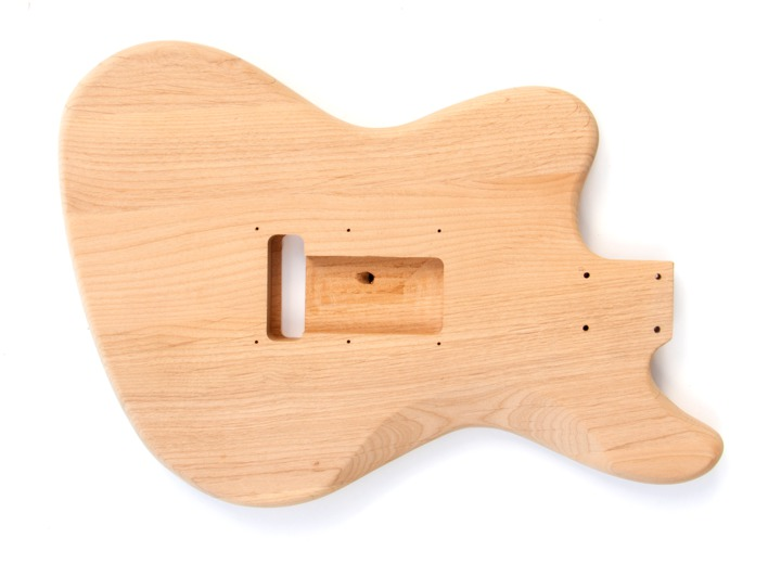 Rear View of The Offset 3 Single Coil Build Your Own Guitar Kit