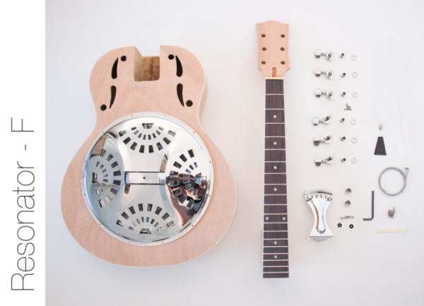 Everything that Comes With The Resonator Acoustic Build Your Own Guitar Kit