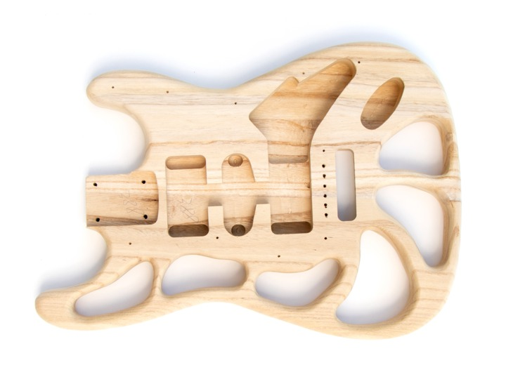 Front View of the ST Style Build Your Own Guitar Kit