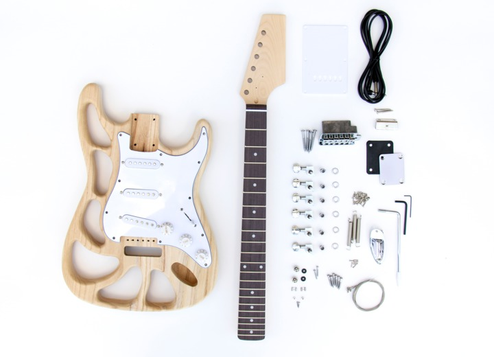 Kit Contents for the ST Style Build Your Own Guitar Kit