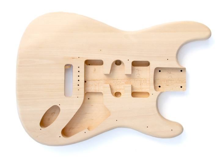 Front View of The ST Style Reverse Headstock Build Your Own Electric Guitar Kit