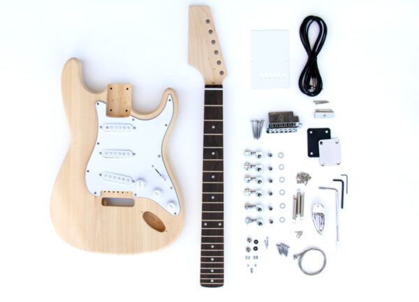 Everything that Comes With The ST Style Reverse Headstock Build Your Own Electric Guitar Kit