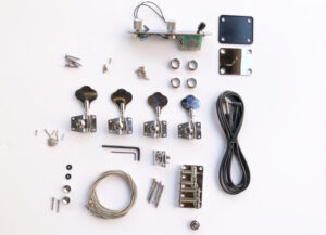 A Closer Look At the Contents of The TL Advanced Build Your Own Bass Guitar Kit