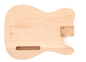 Front View of The TL Advanced Build Your Own Bass Guitar Kit