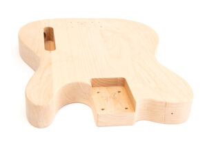 Angled View of The TL Advanced Build Your Own Bass Guitar Kit