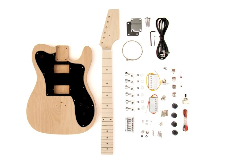 Contents of The TL Deluxe Build Your Own Guitar Kit