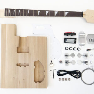 Everything that Comes With The Utah Slab Advanced Build Your Own Bass Guitar Kit